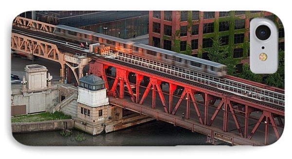 Lake Street Crossing Chicago River Phone Case by Steve Gadomski