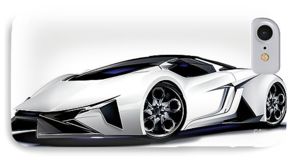 IPhone Case featuring the digital art Lamborghini by Brian Gibbs