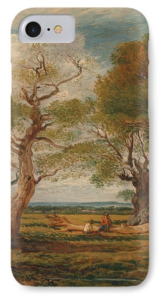 Landscape With Figures IPhone Case by John Linnell