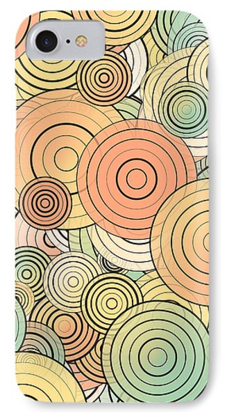 Layered Circles IPhone Case by Gaspar Avila