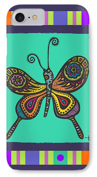 IPhone Case featuring the drawing Learning To Fly by Tanielle Childers
