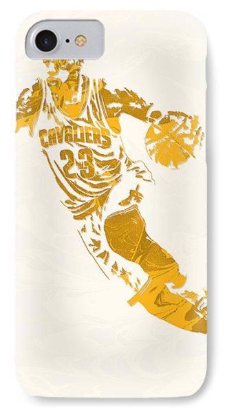 Lebron James Cleveland Cavaliers Pixel Art 10 IPhone Case