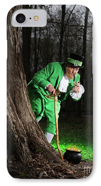 Leprechaun With Pot Of Gold Phone Case by Oleksiy Maksymenko