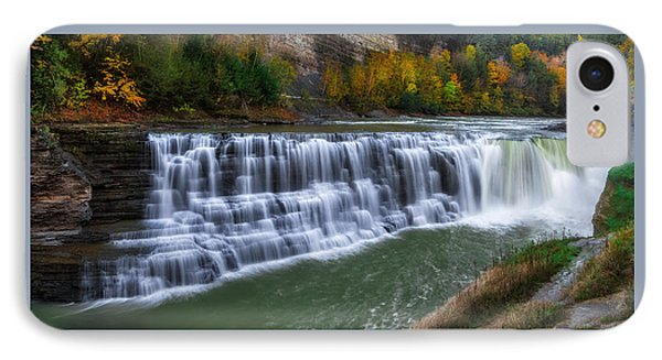 IPhone Case featuring the photograph Letchworth Lower Falls by Mark Papke