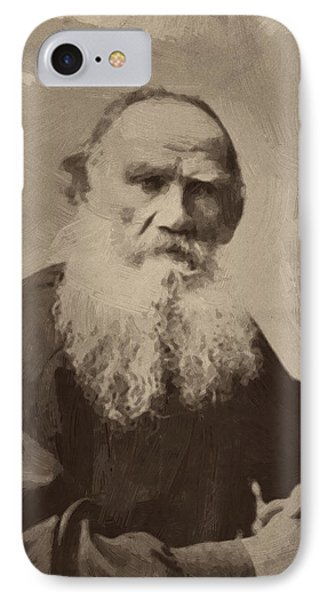 Leo Tolstoy IPhone Case by Afterdarkness