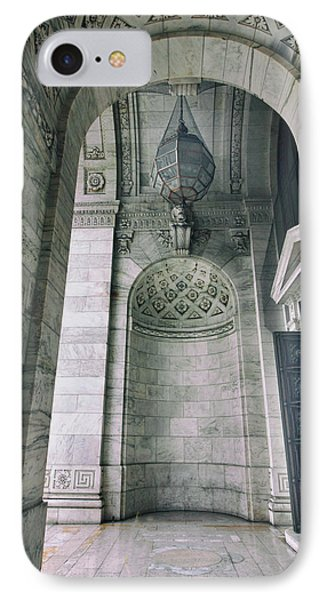 IPhone 7 Case featuring the photograph Library Portico by Jessica Jenney