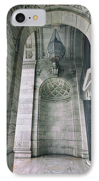 IPhone Case featuring the photograph Library Portico by Jessica Jenney