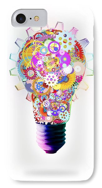 Light Bulb Design By Cogs And Gears  Phone Case by Setsiri Silapasuwanchai