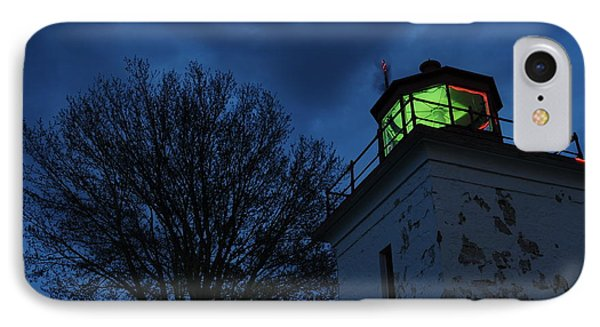 Lighthouse At Night IPhone Case by Joe  Ng