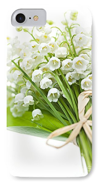 Lily-of-the-valley Bouquet Phone Case by Elena Elisseeva