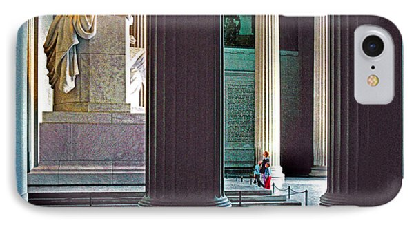 Lincoln Memorial Phone Case by Dennis Cox
