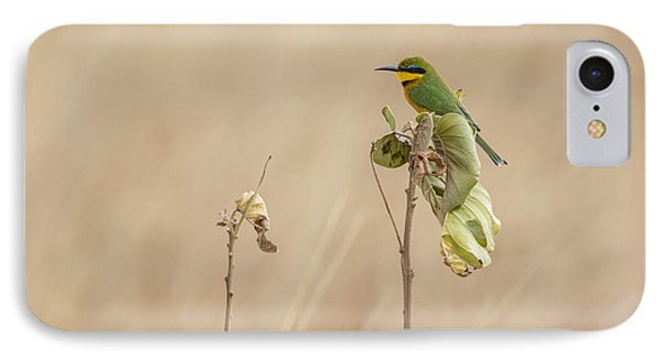 IPhone Case featuring the tapestry - textile Little Bee-eater by Kathy Adams Clark
