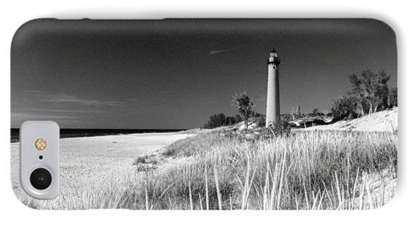 Little Sable Light Station - Film Scan IPhone Case by Larry Carr