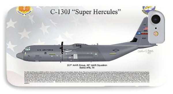 Lockheed Martin C-130j-30 Super Hercules IPhone Case by Arthur Eggers
