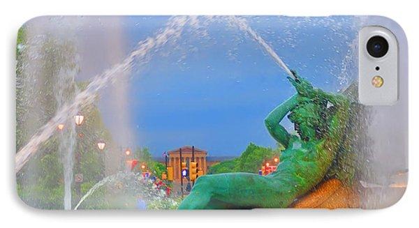 Logan Circle Fountain 1 Phone Case by Bill Cannon