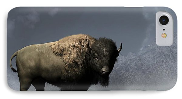 Lonely Bison IPhone Case by Daniel Eskridge