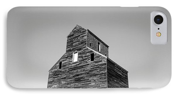 Looking At An Old Grain Elevator IPhone Case by Todd Klassy