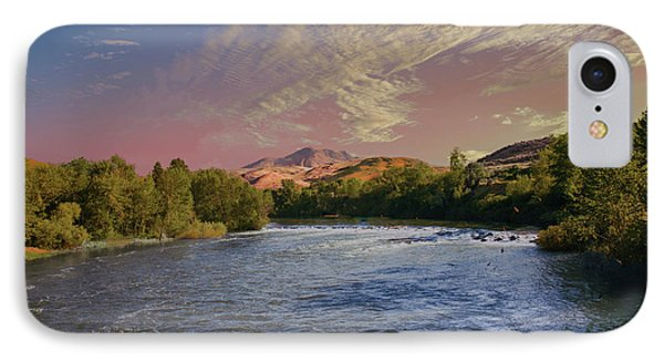 Looking Up The Payette River IPhone Case by Robert Bales