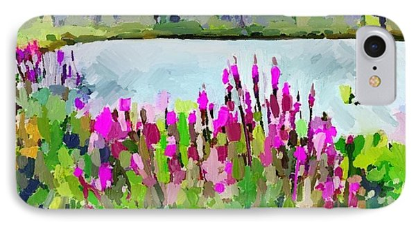 Loosestrife Blooming At Sleepy Hollow Pond IPhone Case