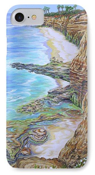 Low Tide Sunset Cliffs IPhone Case by Jane Girardot