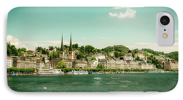IPhone Case featuring the photograph Lucerne Panorama by Wolfgang Vogt