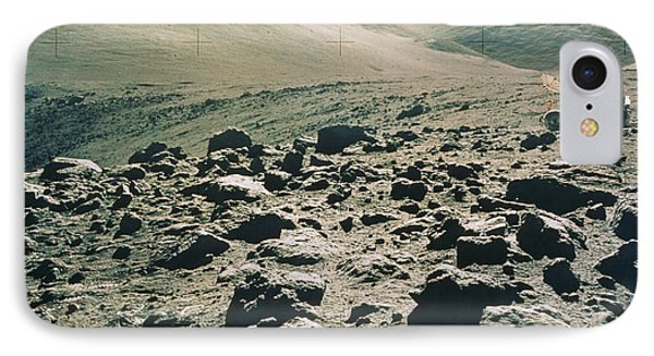 Lunar Rover At Rim Of Camelot Crater Phone Case by NASA / Science Source