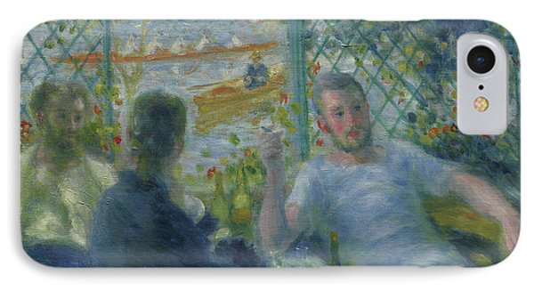 Lunch At The Restaurant Fournaise  The Rowers Lunch IPhone Case by Pierre Auguste Renoir