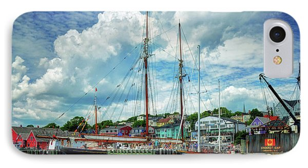 IPhone Case featuring the photograph Lunenburg Harbor by Rodney Campbell