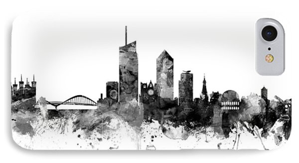 Lyon France Skyline IPhone Case by Michael Tompsett