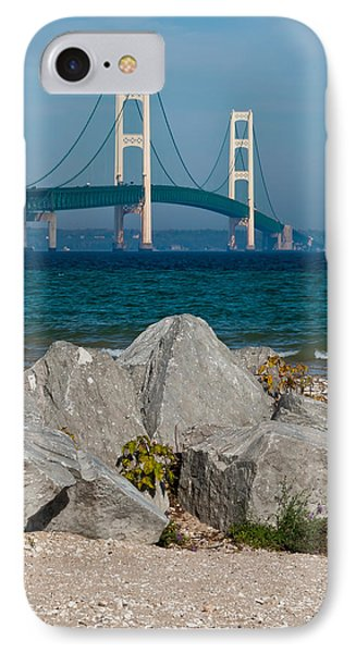 Mackinac Bridge IPhone Case by Larry Carr
