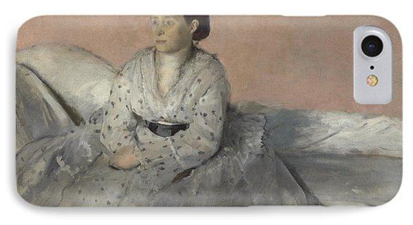 Madame Rene De Gas IPhone Case by Edgar Degas