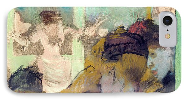 Mademoiselle Becat At The Cafe Des Ambassadeurs IPhone Case by Edgar Degas