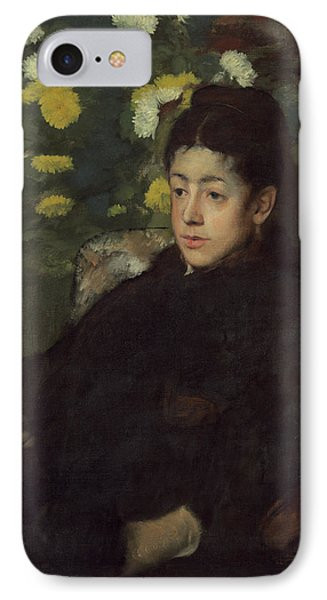 Mademoiselle Malo IPhone Case by Edgar Degas