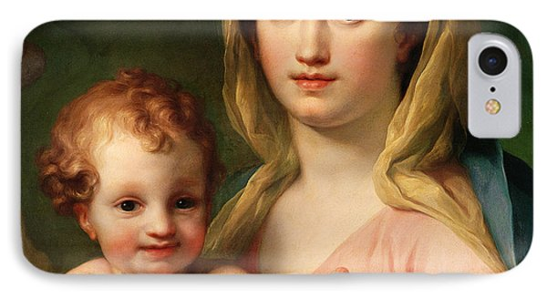 Madonna And Child IPhone Case by Anton Raphael Mengs