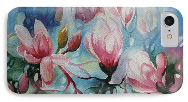 IPhone Case featuring the painting Magnolia by Elena Oleniuc