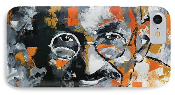 IPhone Case featuring the painting Mahatma Gandhi by Richard Day