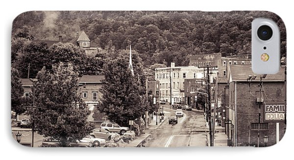 IPhone Case featuring the photograph Main Street Webster Springs by Thomas R Fletcher
