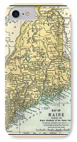 Maine Antique Map 1891 IPhone Case