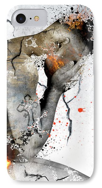 Male Nude  IPhone Case by Mark Ashkenazi