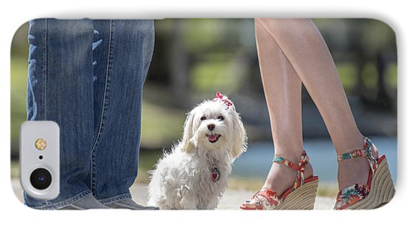 Maltese In The Middle IPhone Case by Andrea Auletta