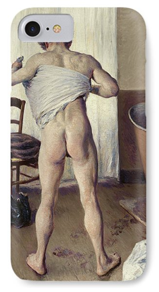 Man At His Bath IPhone Case by Gustave Caillebotte