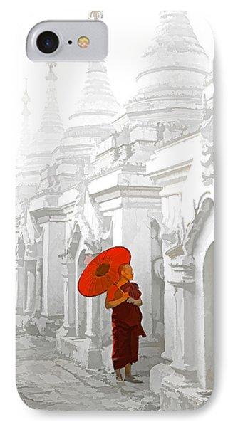 Mandalay Monk Phone Case by Dennis Cox WorldViews