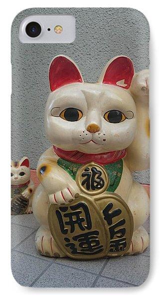 A Figure Of A Beckoning Cat, Called 'manekineko' IPhone Case
