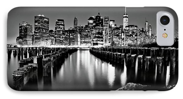 IPhone Case featuring the photograph Manhattan Skyline At Night by Az Jackson