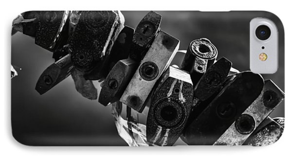 Sealed Metal Padlocks Of Endless Time IPhone Case by John Williams