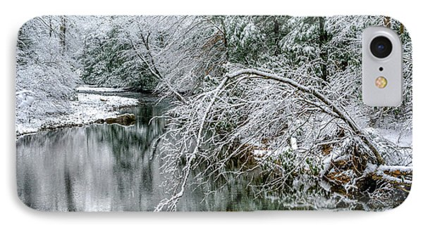 IPhone Case featuring the photograph March Snow Cranberry River by Thomas R Fletcher