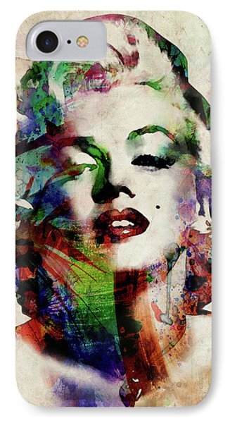 Marilyn IPhone 7 Case by Michael Tompsett
