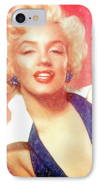 Marilyn Monroe - Pencil Style IPhone Case