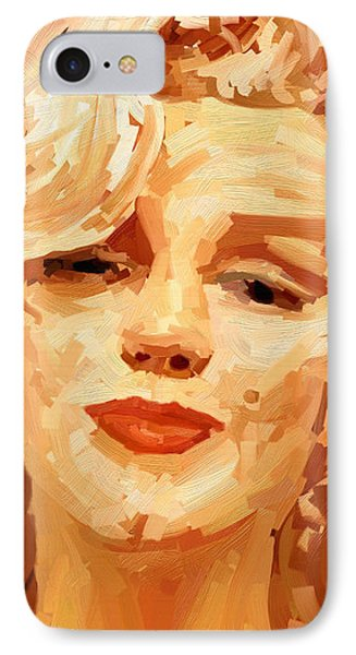 IPhone Case featuring the painting Marylin Monroe 3 by James Shepherd