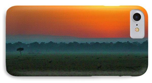 IPhone Case featuring the photograph Masai Mara Sunrise by Karen Lewis